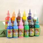 12 Colors Kids Finger Paint Washable Non-Toxic
