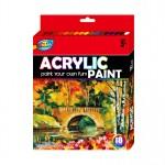 18 x 12ml Acrylic Paint Set