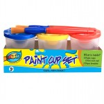 Paint Cup Set with Brush 3*150ml