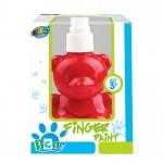 Bear pump bottle finger paint - Red