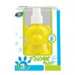 Bear pump bottle finger paint - Yellow