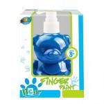 Bear pump bottle finger paint - Blue