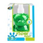 Bear pump bottle finger paint - Green