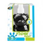 Bear pump bottle finger paint - Black