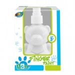 Bear pump bottle finger paint - White
