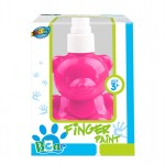 Bear pump bottle finger paint - Pink