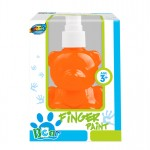 Bear pump bottle finger paint - Orange