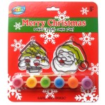 Xmas Suncatcher Painting Set - Santa&Tree