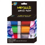 6*20ml Metallic Acrylic Paint