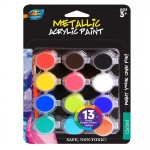 12*5ml Metallic Acrylic Paint