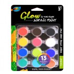 12*5ml Glow in the Dark Acrylic Paint