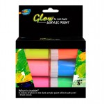6*20ml Glow in the Dark Acrylic Paint