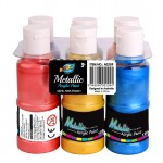 6*120ml Metallic Acrylic Paint
