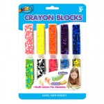 10 Multicolor Long Crayons