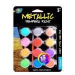 12*5ml Metallic Tempera Paint
