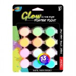 12*5ml Glow in the Dark Poster Paint
