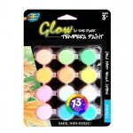 12*5ml Glow in the Dark Tempera Paint