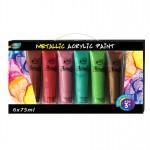 6*75 Metallic Acrylic Paint Tube