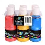 6*120ml Metallic Tempera Paint