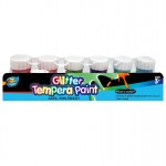 6*20ml Glitter Tempera Paint with Base
