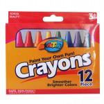 12 Premium Jumbo Crayon