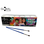 Face Paints Set  With 2 Brushes