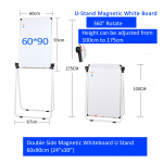 Double Sided Magnetic Whiteboard  U Stand