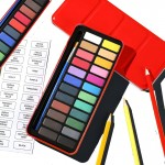 24 Watercolour Paint Set With Brush